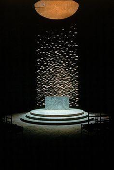 altar at Massachusetts Institute of Technology Chapel, Cambridge (1950-55) by Eero Saarinen