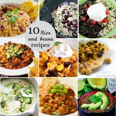 Pretty Providence | A Frugal Lifestyle Blog: Rice and Beans Recipe Roundup. Most of these with a little but of touching up and substitution would be great!