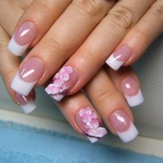 Fabulous Floral Nail Art. Look at the perfect smile lines! Love it!
