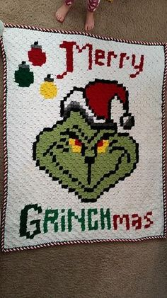 Ravelry: Merry Grinchmas Graphgan pattern by Aimee Hardy Christmas Crochet Blanket, C2c Crochet Blanket, Christmas Afghan, Graph Crochet, Crochet Snowman, Crotchet Patterns, Crochet Geek, Christmas Crochet Patterns, Crochet Quilt