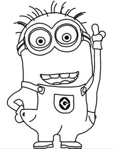 Minions free coloring pages for kids 01 doodles Pinterest Cards