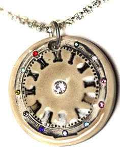 Steampunk Inspired Clock Sparkle Surly Necklace with by surly, $48.00
