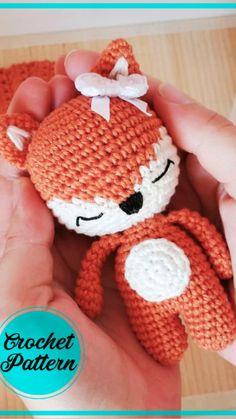 Crochet Fox Pattern Free, Crochet Amigurumi Free Patterns, Free Crochet, Fox Amigurumi Pattern, Crochet Hats, Cat Amigurumi, Crochet Projects, Creations, Knitting