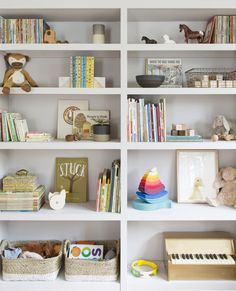 Kids room shelves, nursery bookshelf, toy shelves, bookshelves in bedroom, Kids Room Bookshelves, Nursery Bookshelf, Bookshelves Built In, Built Ins, Playroom Shelves, Baby Room Shelves, Nursery Storage, Kids Storage, Toy Storage