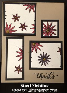 Stampin' Up Grateful Bunch Thank You Card 1