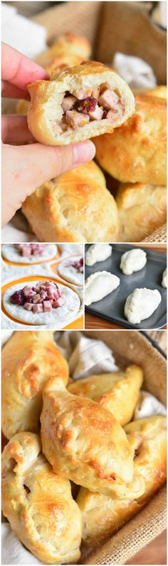 Enjoy these easy and tasty Turkey Cranberry Piroshki as a post-holiday snack. They are made with turkey, cranberry sauce, orange zest, and rosemary.