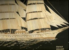 Tall ships from around the world  Handmade with Leaves of rice plant.  Handmade by museumshop