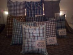 Mummy's memory cushions for Millie's bears xx