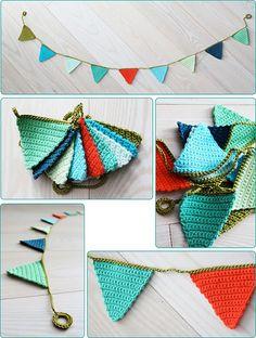 crochet bunting / horgolt zászlófüzér