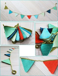 Knitted bunting, genius!