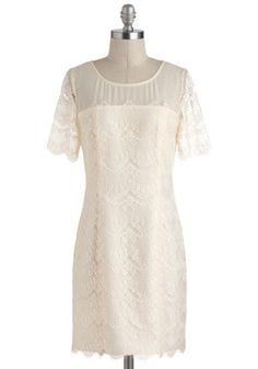 with like a brown sash?  Change of Pastry Dress, #ModCloth