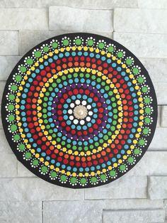 Rainbow Mandala (9 inches) - dot art - dot painting - wall decor - wall art by ColleensArtBoutique on Etsy https://www.etsy.com/listing/280797374/rainbow-mandala-9-inches-dot-art-dot