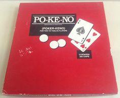 Vintage Po-Ke-No Poker Keno Game 12 Boards 200 Chips Complete #UitedStatesPlayingCardCo