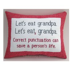 They just keep getting better! Funny Cross Stitch Pillow Funny Quote Red and Gray by NeedleNosey, $20.00