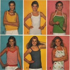 Casual Summer Tank Tops Camisoles  -  1970's Retro Women's Fashion  - Size 12-14-16  - UNCUT - Sewing Pattern Simplicity 9035 by Sutlerssundries on Etsy