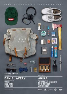 "SUBMISSION: This is the new design we made for a club night in Tel Aviv titled ""FIELD TRIP"", feat. Daniel Avery & Anika.Conc..."