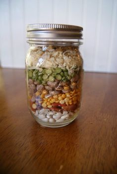 Dry Ingredients Gifts in a Jar {Gifts in a Jar} Fall Friendship Soup Mix