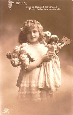 Girl with doll. Date unknown.