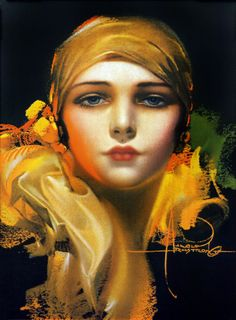 """vintage rolf armstrong   ThatBohemianGirl - vintagegal: """"Flower of the Orient"""" by Rolf..."""