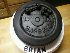 Barbell cake  by yankeecakebaker, via Flickr