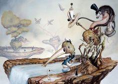 Amazing Surrealistic Artworks by Greg Simkins Fantasy Kunst, Fantasy Art, Mary Blair, Pop Surrealism, Online Gallery, Art Google, Cool Artwork, Concept Art, Graffiti