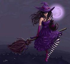 А вы знаете почему ведьмы изображаются на метле?   Мало кто знает, но в древности подобное изображение ведьмы считалось защитным амулетом. Люди заметили, что ведьмы обычно живут поодиночке и стараются не нарушать границы жизни других ведьм. Приметив этот факт, люди стали вешать на двери изображения колдуньи на метле. Что значило, смотрите, в этом доме уже есть своя ведьма, а значит, чужой тут делать нечего!