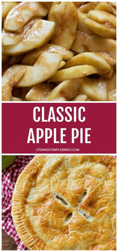 This classic apple pie has a sweet, spiced filling and the most flaky pastry crust ever. It is absolute perfection! #classicapplepie #applepie #classicpie #pie #homemadepie