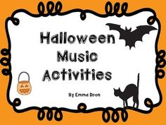 Have fun with these Halloween Themed Music Activity Sheets which include musical math, dynamics terms, time signatures and more.  Enjoy!  Miss Emma