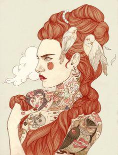 Pra quem gosta de tattoo, essa matéria vai impressionar! - As mulheres de Liz Clements