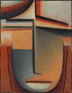 Artwork by Alexej von Jawlensky, Abstrakter Kopf: Tragik (Abstract Head: Tragic), Made of oil on board