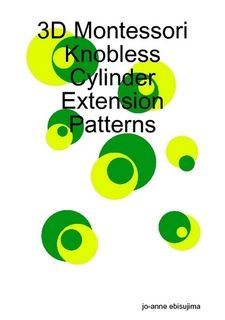 3D Montessori Knobless Cylinder Extension Patterns $8.81
