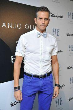 El Actor Antonio Espigares con una de nuestras pajaritas Carev en la #MercedesBenzFashionWeek de Madrid