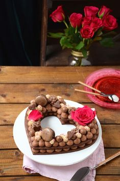 Number cake heart for Valentine's day