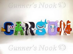 Finding Nemo Character Letter Art Price Per Letter by GunnersNook