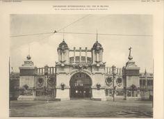 L'Edilizia Moderna - Tavola XIV - Prospetto del Palazzo della Marina, verso l'ingresso di via Buonarroti
