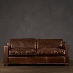 Distressed Leather Couch from Restoration Hardware....One of My husbands loves!!!