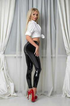 Pants ass gaga in leather lady