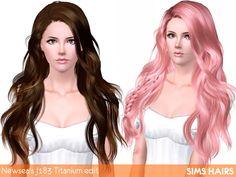 Newsea's J183 Titanium hairstyle retextured by Sims Hairs for Sims 3 - Sims Hairs - http://simshairs.com/downloads-sims3-sims4/newseas-j183-titanium-hairstyle-retextured-by-sims-hairs/