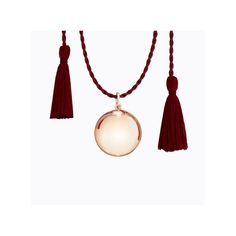 ilado - Joy Pregnancy Necklace / Pink Gold with Burgundy Silk Cord