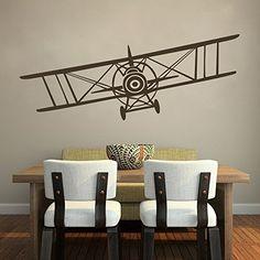 Vintage Airplane - Bi-Plane - Aeronautical Pilot Wall Art Decal Geckoo http://www.amazon.com/dp/B00M2HAV7Q/ref=cm_sw_r_pi_dp_TJymub1SGEHAR