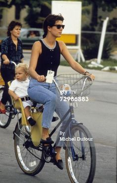 Princess Caroline of Monaco, a member of the Grimaldi family, rides a bicycle in 1985 in Key West, USA. Princess Caroline married Ernst August V, Prince of Hanover in 1999 and is also titled as Caroline, Princess of Hanover. She will be celebrating her 50th birthday on January 23rd. (Photo by Michel Dufour/WireImage)