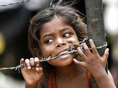 children should not be in places where there is barbed wire