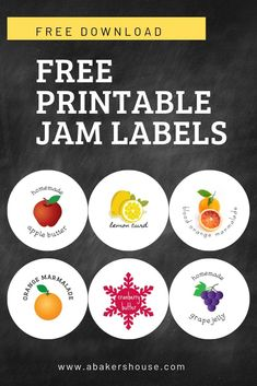 Get Access to the Free Resources Library and Printables Jam Jar Labels, Jam Label, Canning Tips, Canning Recipes, Homemade Jelly, Homemade Gifts, Printable Labels, Free Printables, Labels Free