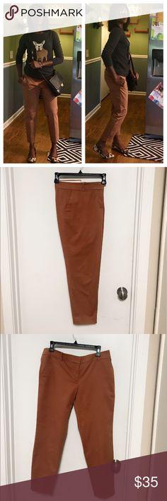 Jcrew pants Jcrew tan cropped leg dress pants J. Crew Pants Ankle & Cropped