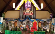 Kingdom Rock VBS 2013 main set image full view. Great ideas if this is your church's theme this year.