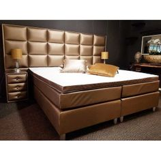 Boxspring 2-Persoons Eric Kuster Stijl | Brons, Goud, Wit, Zilver en Antraciet Bed, Furniture, Home Decor, Decor