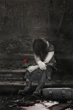 Poor sad girl by vivi-art.deviantart.com on @deviantART