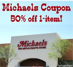 Michaels Coupon: 50% off 1-item! {thru 3/1} #crafts #coupons