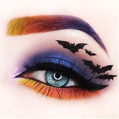 Halloween eye makeup is the perfect way to express yourself at least once a year. Make sure your makeup is extraordinary and unique. We are at your service! Halloween Eye Makeup, Halloween Eyes, Holiday Makeup, Halloween Makeup Looks, Creepy Halloween, Makeup Eye Looks, Eye Makeup Art, Eye Art, Beauty Makeup