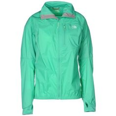 The North Face Jacket ($105) ❤ liked on Polyvore featuring women's fashion, outerwear, jackets, light green, zipper jacket, zip pocket jacket, green zipper jacket, the north face jackets and green jacket